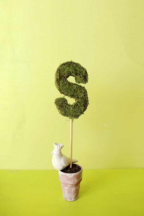 DIY-Monogram-Topiary-green