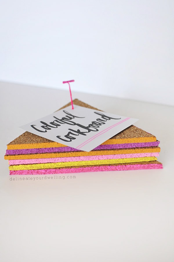 Easy-Colorful-Cork board, @Delineateyourdwelling