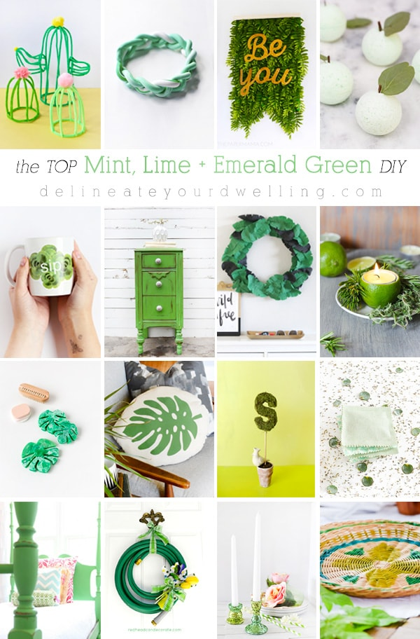 The top DIY, crafts and makeovers in Mint, Lime and Emerald Green DIY craft projects! | Delineate Your Dwelling
