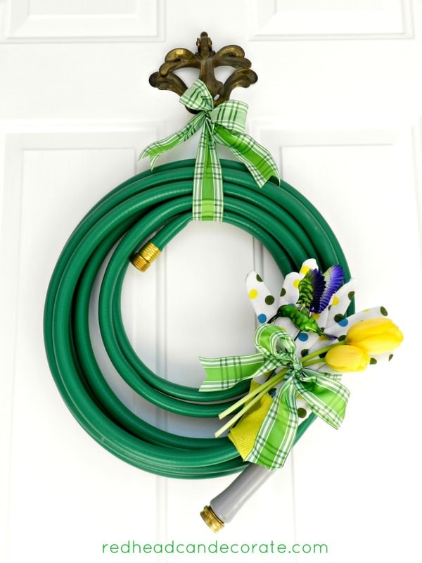 green hose wreath