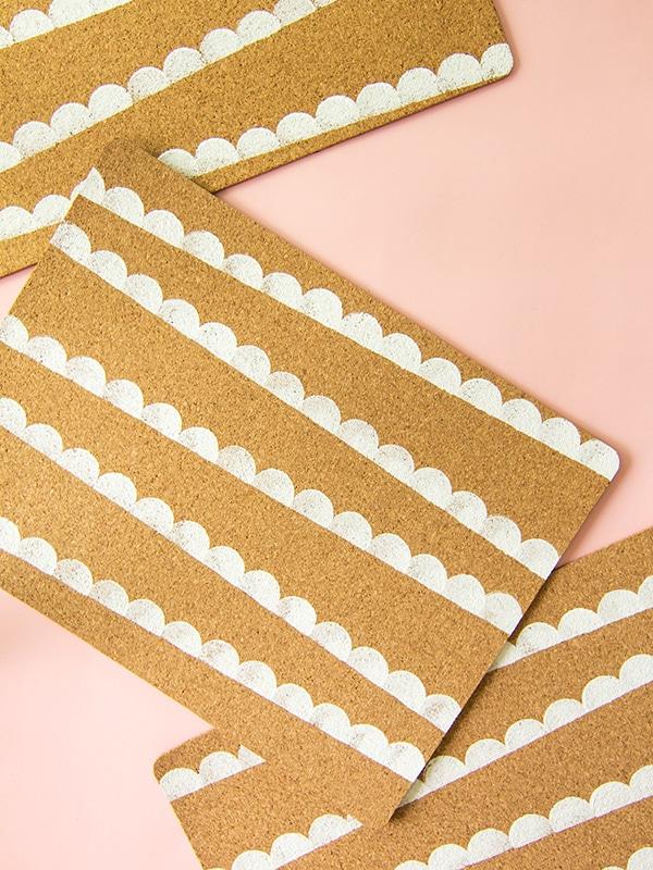scallop-cork placemats
