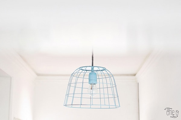 Blue DIY-Pendant-Lamp-From-A-BAsket-1