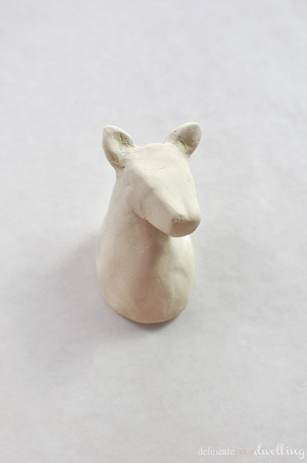 Fun and easy to make DIY Air Dry Clay Animal Heads! Add color and personality to yours. Delineate Your Dwelling