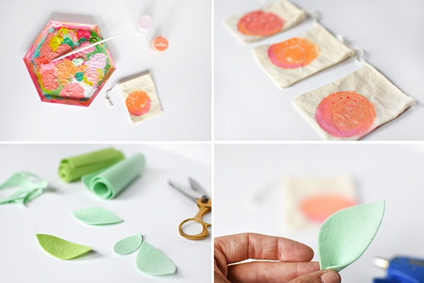 Peach-Painted-Bag-steps