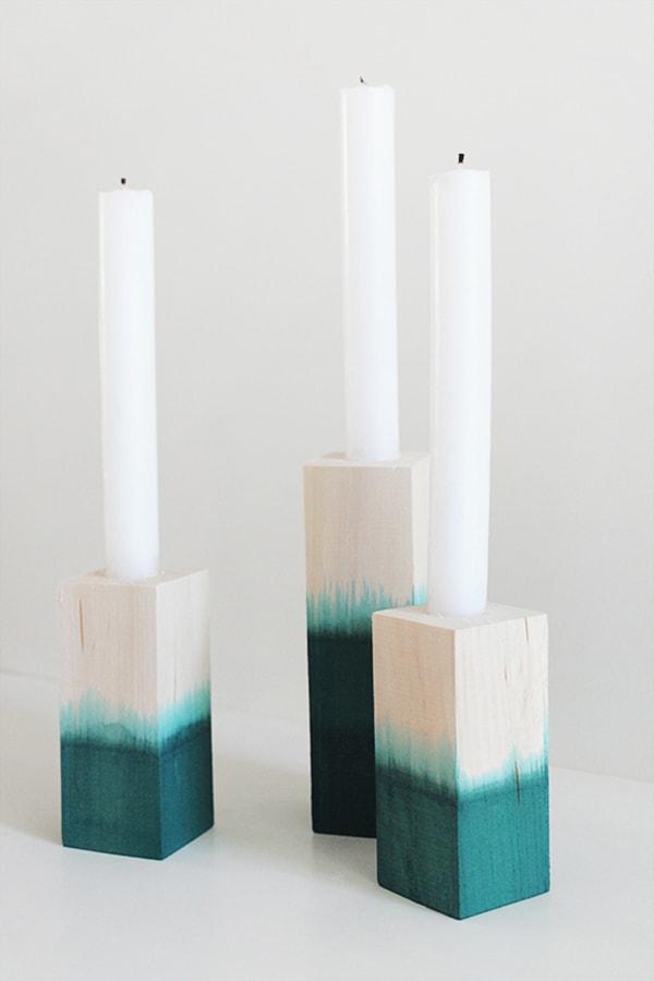 Teal Blue diy-dip-dyed-candlesticks-
