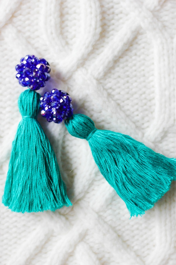 blue diy-crystal-and-tassel-earrings-4