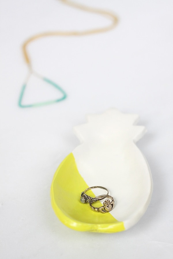 Creative and simple to make Clay Pineapple Ring Dish with Black White Crosses - Idle Hands Awake for Delineate Your Dwelling