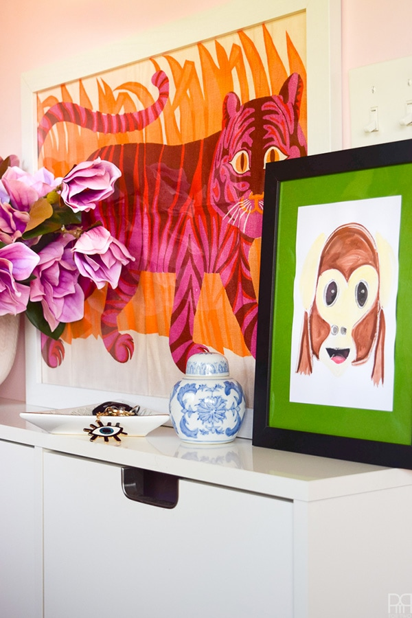 Fun and Playful Watercolor Emoji Monkey Art work!