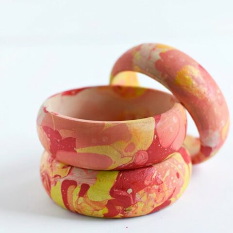 Colorful Marbled Bangles