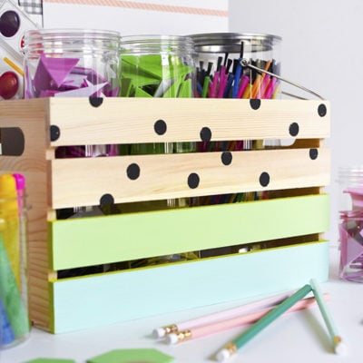 1 DIY Kids Art Supply Crate