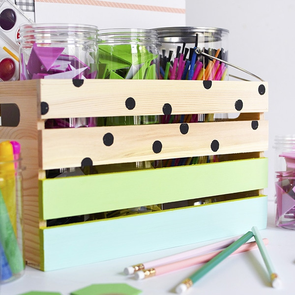 1 DIY Kids Art Supply Crate