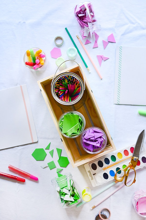 Create a DIY Kids Art Supply Crate to keep all that creativity organized and easy to use! Delineate Your Dwelling