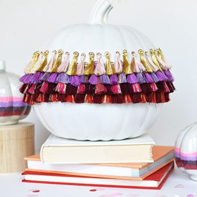 1 Simple DIY Tassel Pumpkin