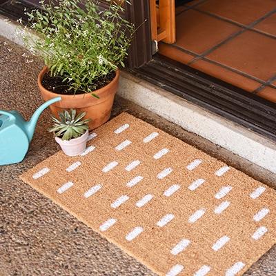 1 White Dash Doormat