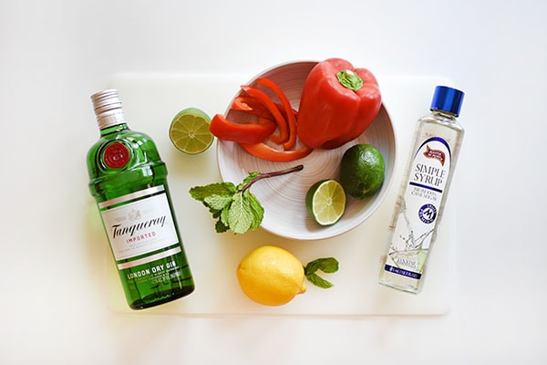 Red Bell Pepper Cocktail ingredients