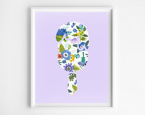 purple popsicle-printable