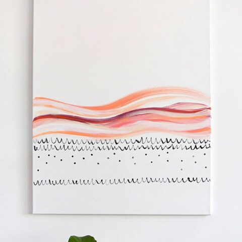 How to Paint Large Scaled Abstract Art
