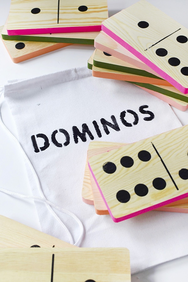 DIY Outdoor Domino game