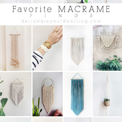 Favorite Macrame Wall Hangings, Finds and Goods! Delineate Your Dwelling