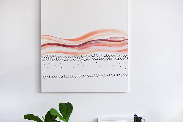 Easy to create DIY Large Scaled Art for any room in your home! Delineate Your Dwelling