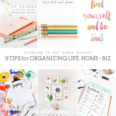 1 New Year's Goals and Organization for Life, Home + Business