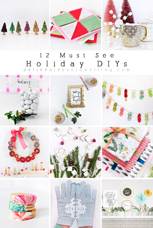 12 Must See Holiday Christmas DIYS, crafts and recipes! Delineate Your Dwelling