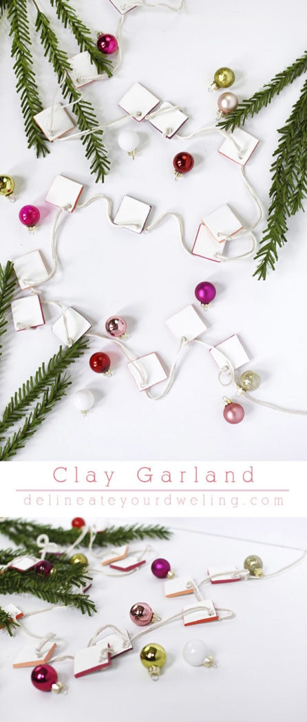 Christmas Clay Garland