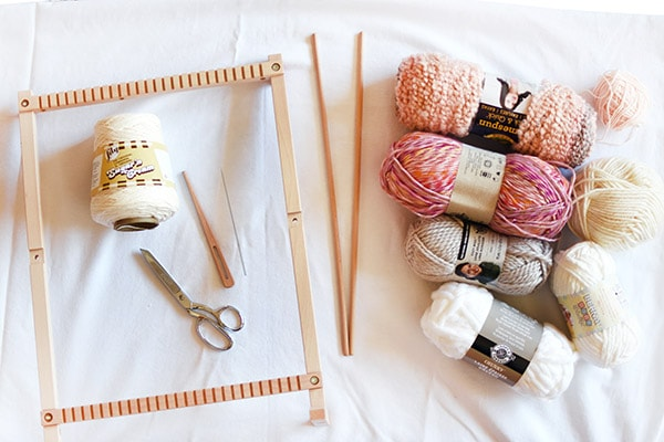 Creative Wall Weaving supplies