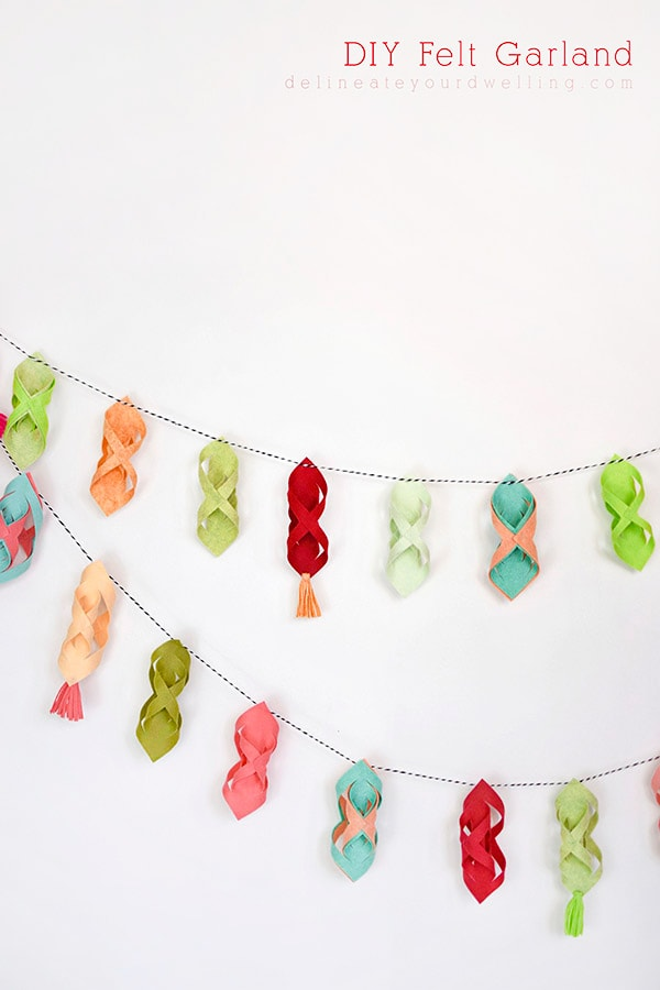 Red and Green Felt Garland