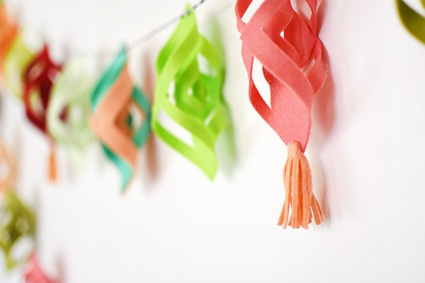 Felt Garland and Tassel