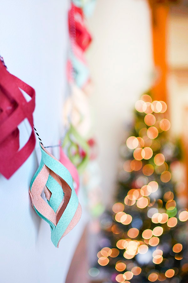 Simple to make DIY Felt Garland