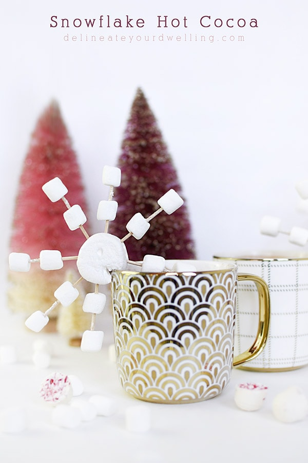 Festive Snowflake Hot Cocoa drinks