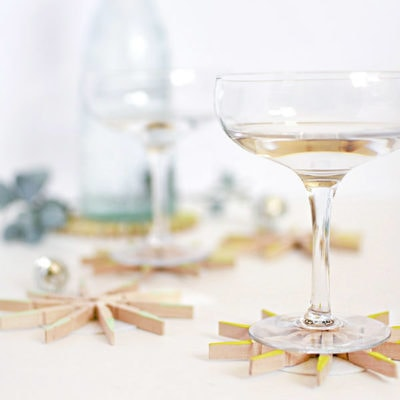 1 DIY Clothespin Drink Coasters