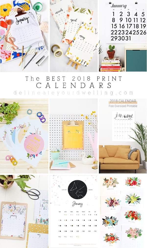 The BEST free 2018 Print Calendars! Delineate Your Dwelling