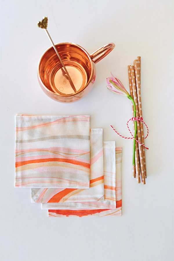 DIY Hand Painted Cocktail Napkins, perfect for any occasion! Delineate Your Dwelling