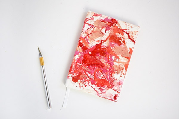 Marbled Heart Notebook step 3