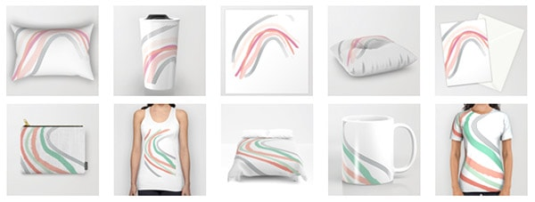 Society6 Slide Products
