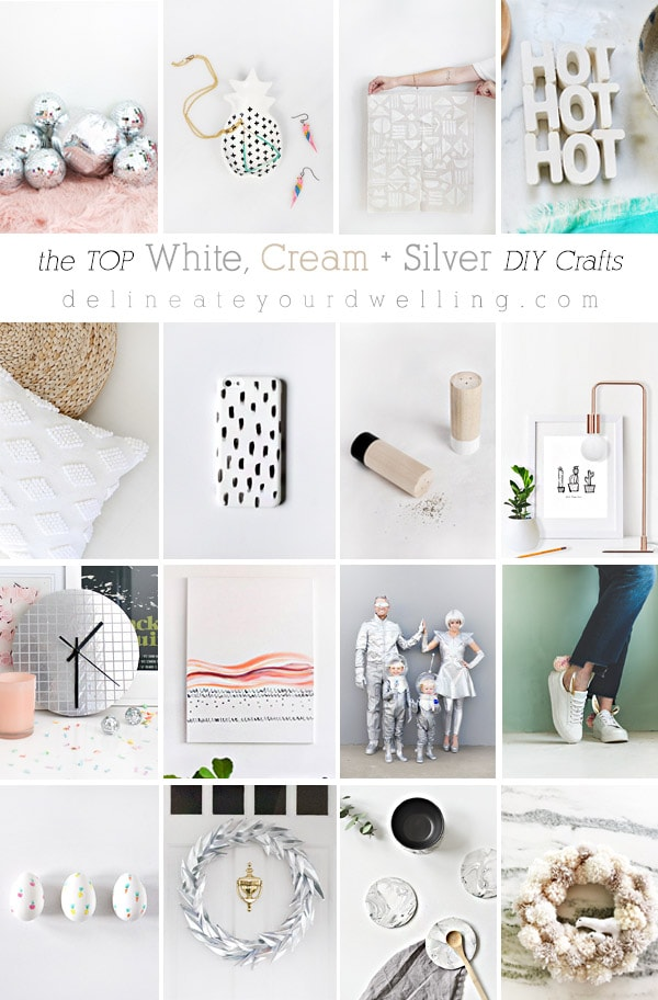 The very top White, Cream and Silver DIY crafts, DIY and recipe projects! Delineate Your Dwelling