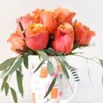 DIY Rose Flower Mug Vase