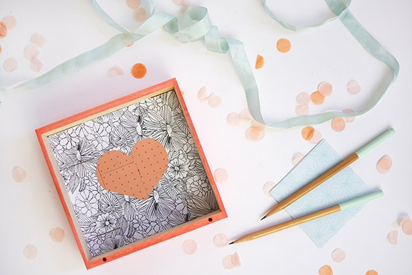 Create fun Square Mosaic Heart Puzzle DIY