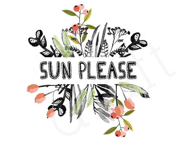 Free Printable Sun Please, Delineate Your Dwelling