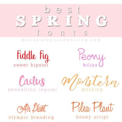 1 Best Spring fonts
