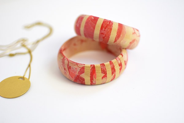 Easy to make DIY Marbled Bracelets, for the times you need to make a statement with your jewelry,