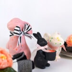Polka Dot Spring Bunny centerpieces, Delineate Your Dwelling