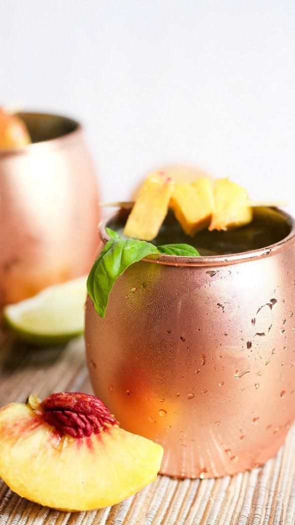 peach basil moscow-mule-port