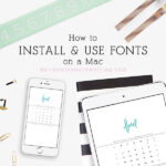 1 Install fonts on a Mac