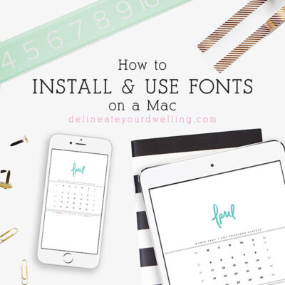 1 Install fonts on a Mac