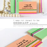 DIY I was not meant to be Ordinary Plaque, Delineate Your Dwelling