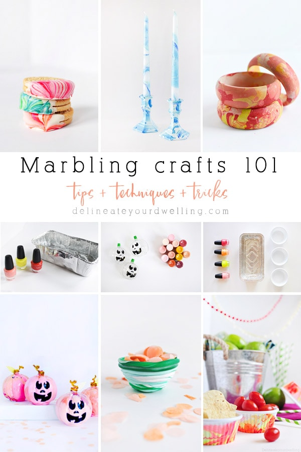 A complete 101 guide to all things Marbling! Includes what are marbling crafts, what marbling supplies you need and what are the best items to marble!