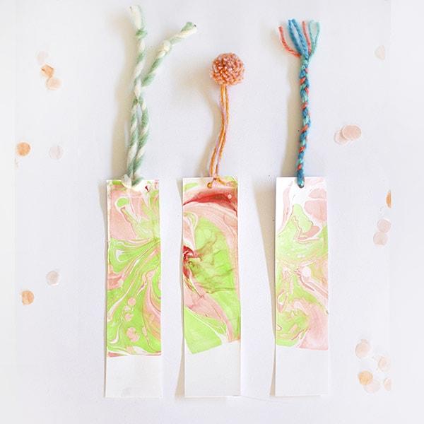 1 DIY Marbled Bookmarks